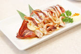 Grill squid with soy sauce — Stock Photo