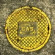 Gas on Manhole Cover — Foto Stock