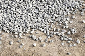 Pile Crushed stone — Stockfoto