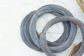 Metalltråd i en rulle — Stockfoto