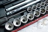 Socket wrench set — Stock Photo