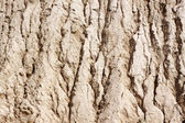 Sand surface to water erosion — Stock Photo