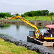 Dredging the canal — Stock Photo