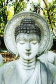 Statua di buddha di pietra — Foto Stock