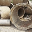 Concrete pipe pile — Stock Photo