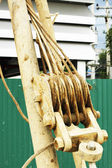 Pulley Block Tackle Rope Pull — Stock Photo