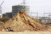 Pile of dry soil and sand — Stock Photo