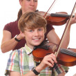 Foto Stock: Violin players