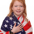 Stock Photo: Patriotic girl