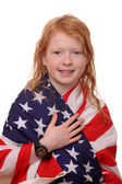 Patriotic girl — Stock Photo