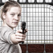 Royalty-Free Stock Photo: Girl with gun