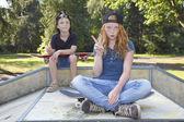 Kaykay çocuklar — Stok fotoğraf