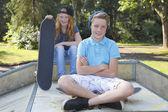 Skateboard kids — Stock Photo