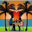 Couple on valentines day — Imagen vectorial