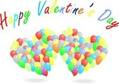Happy Valentine's Day Balloons — Stock vektor
