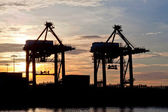 Port sunrise — Stockfoto
