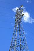 電気高電圧の電源投稿 — ストック写真