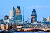 Londyn sylwetki na tle nieba — Zdjęcie stockowe