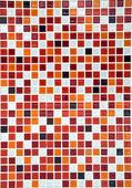 Fond rouge mosaïque en céramique, vertical — Photo