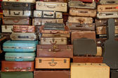 Vintage suitcase and briefcase — Stock Photo