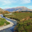 Stock Photo: Curve river to Southern alpine alps mountain at Arthur's Pass Na