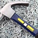 Hammer on Nails — Stock Photo
