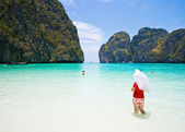 Girl at Maya Bay — Stock Photo
