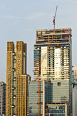Kyscraper Office Tower Under Construction in Bangkok Thailand — Stock Photo