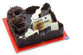 Chocolate Bitrthday Cake Dessert — Stock Photo