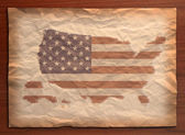 Vintage usa map on paper craft — Stock Photo