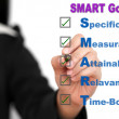 Business SMART Goal setting — Stock Photo
