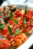 Tomato canape — Stock Photo