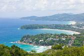 空中的热带海滩 — 图库照片