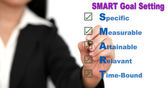 Definição de metas inteligentes de negócios — Fotografia Stock