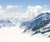 Great Aletsch Glacier Jungfrau Alps Switzerland — Stock Photo