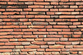 Vintage red brick wall — 图库照片