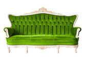 Vintage luxury Green sofa — Stock Photo
