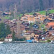 Village around Lake of Thun Switzerland - Stock Photo