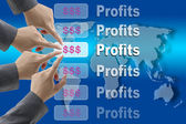 Busines profits — Stock Photo