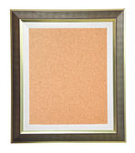 Isolated cork notice board with modern frame — Stock Photo