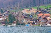 Village around Lake of Thun Switzerland — Stock Photo