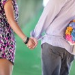 Sweet couple hand in hand — Foto de stock #13292421