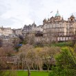 Edinburgh skyline Scotland UK - Stock Photo