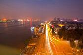 Wuhan Hubei China at dusk — Stock Photo
