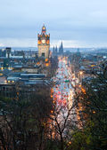 Edinburgh skyline with garden Scotland UK — Stock Photo