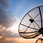 Telecommunication satellite dish — Stock Photo #14236561