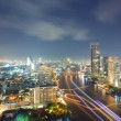 Aerial Bangkok Skyline - Stock Photo
