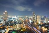 Aerial Bangkok Skyline — Stock Photo