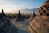 Borobudur Temple Morning Sunrise — Stock Photo
