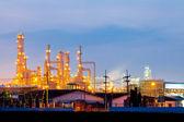 Impianto di raffineria di petrolio — Foto Stock